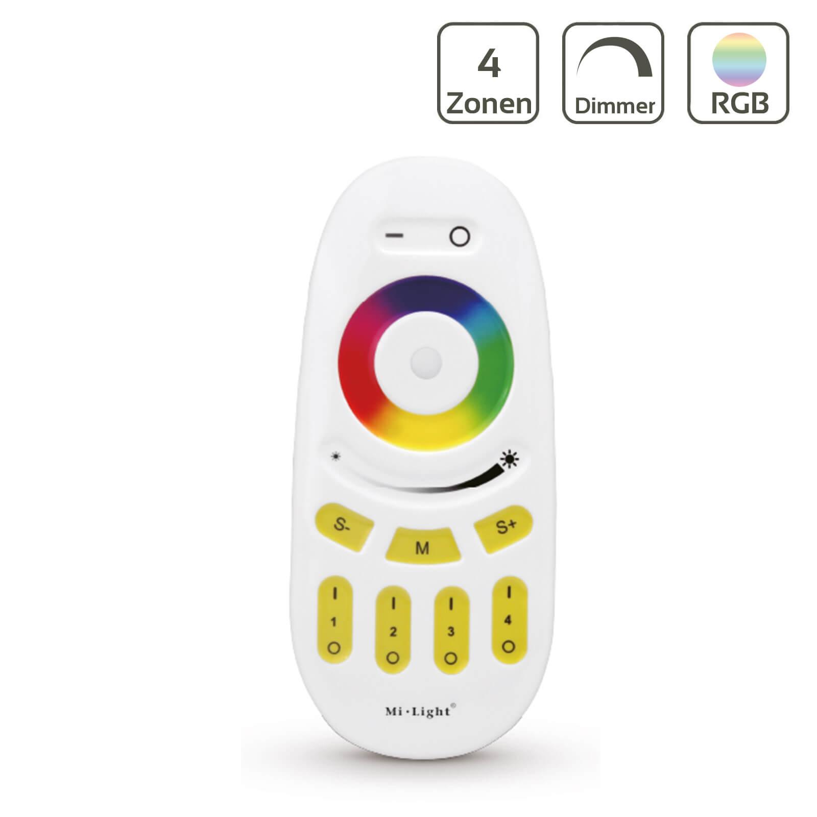 MiBoxer Funk Fernbedienung RGBW | Dimmen Schalten Farbeinstellung | FUT096