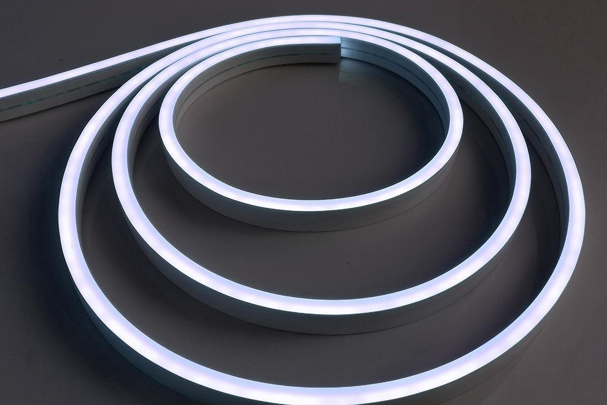 Neon Mini Kaltweiß 24V LED Streifen 5M 12W/m 120LED/m 6mm IP66 6000K