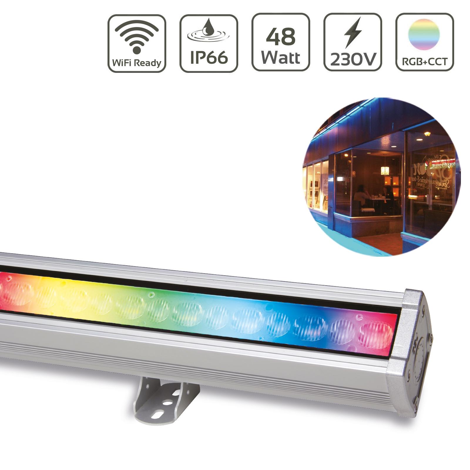 MiBoxer 48W RGB+CCT LED Wallwasher WiFi Fassadenstrahler 230V IP66 RL2-48