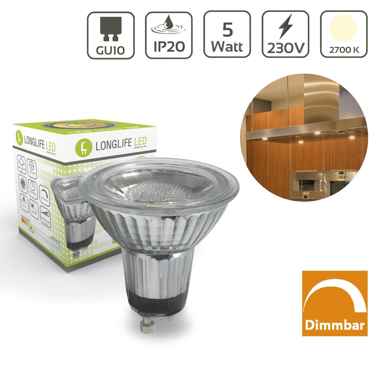 LED Spot GU10 5W 2700K 400lm 40° dimmbar