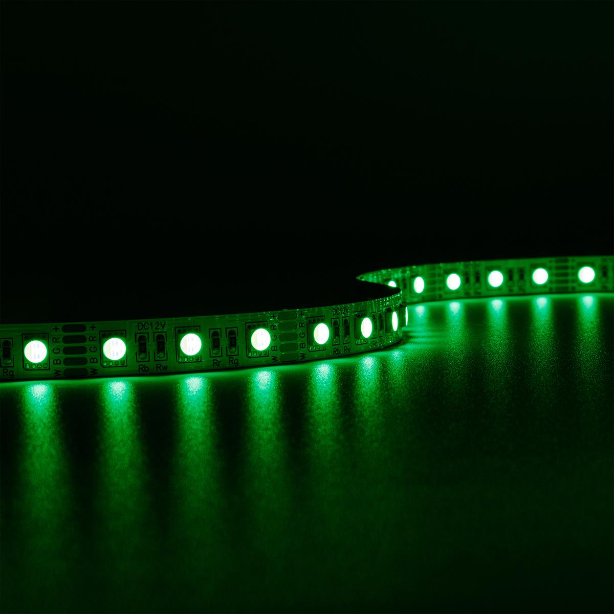 Strip RGBW 12V 5M 14,4W/m 60LED/m 12mm IP20 Farbwechsel RGB+4000K