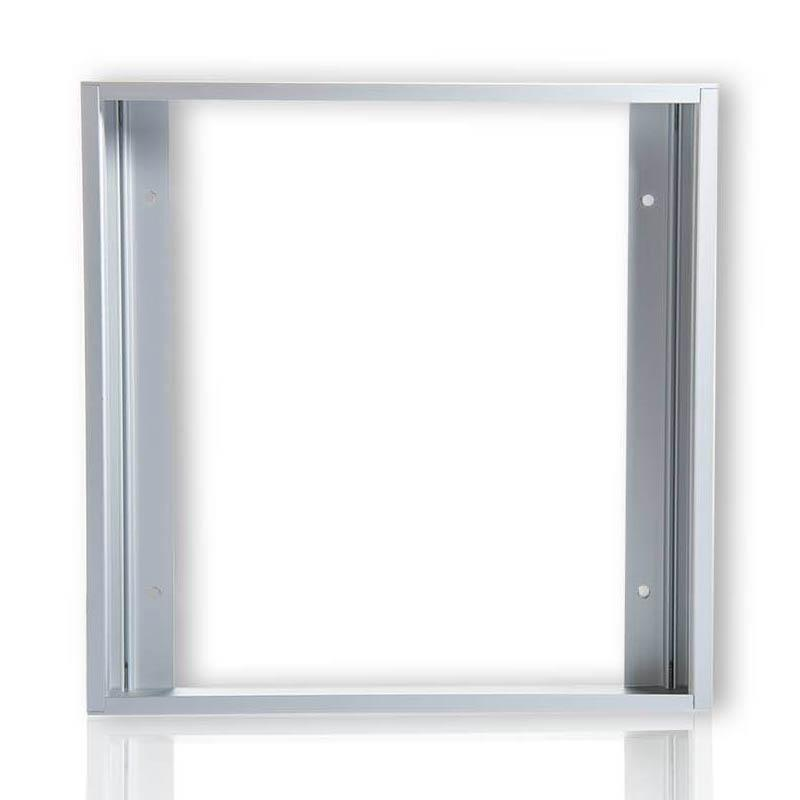 LED Panel Aufbaurahmen Classic 30x30cm silber Aufputz Montagerahmen