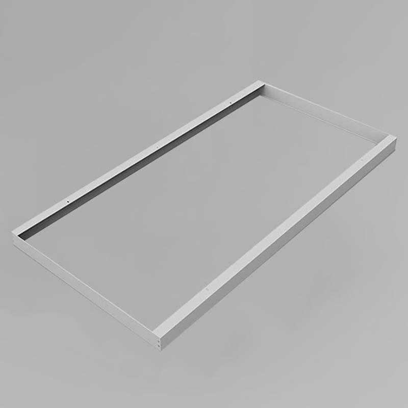 LED Panel Aufbaurahmen Classic 120x60cm silber Aufputz Montagerahmen