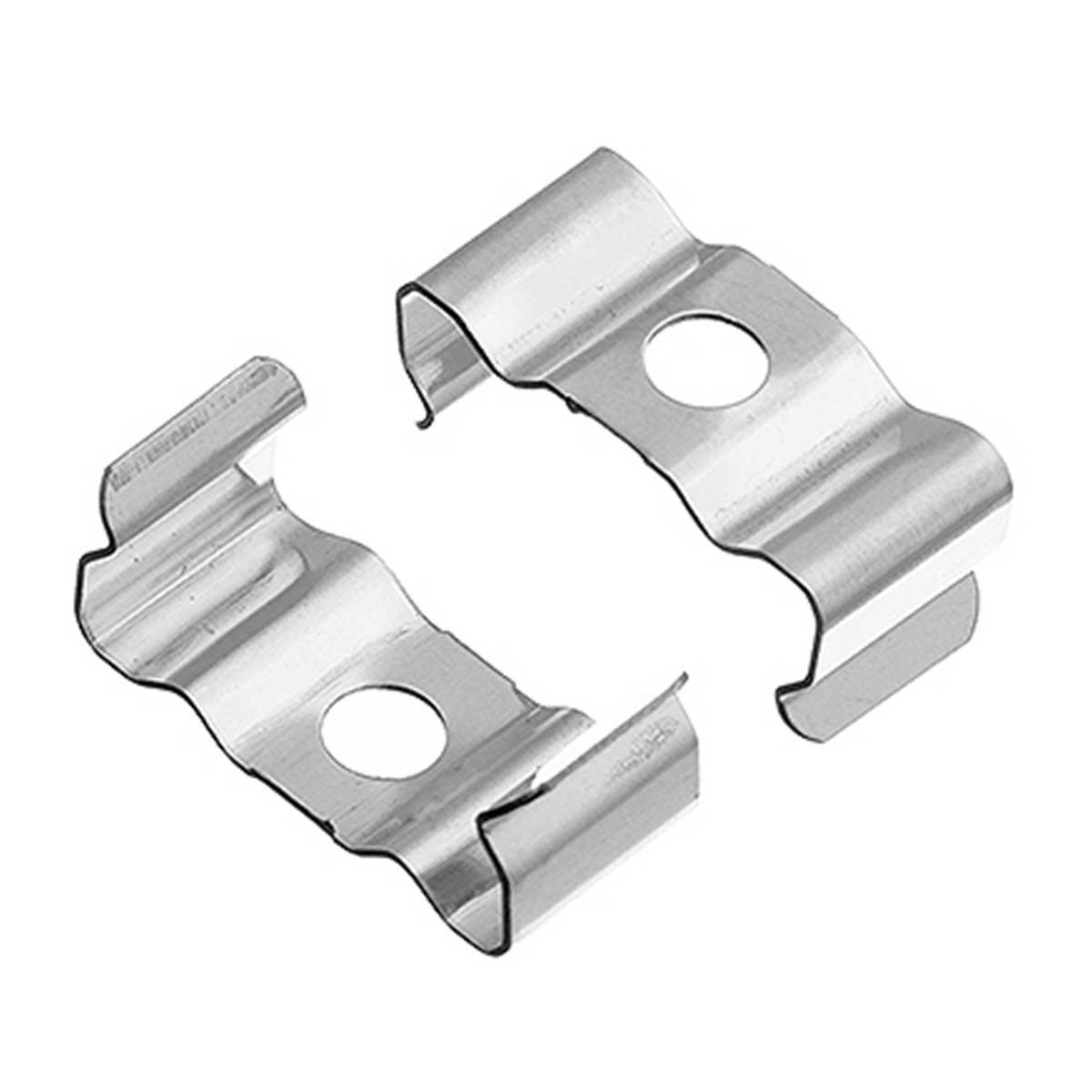 1 Paar Montageclips Halter für Aufbau U-Profil 17x14mm (4276)
