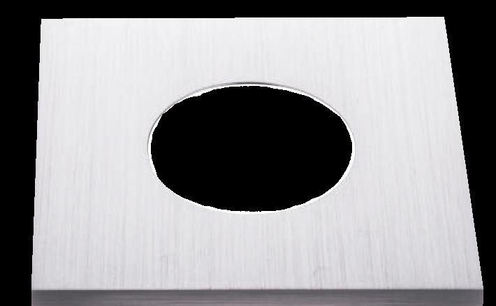 Klemmring Alu Aluminium gebürstet eckig 84x84mm