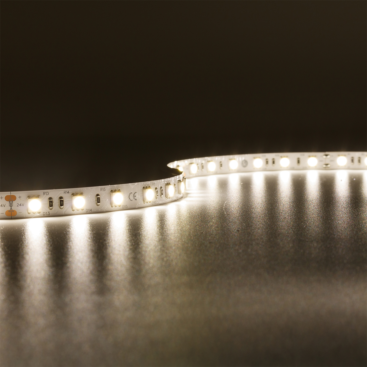 Strip Neutralweiß 24V LED Streifen 5M 14,4W/m 60LED/m 10mm IP20 4000K