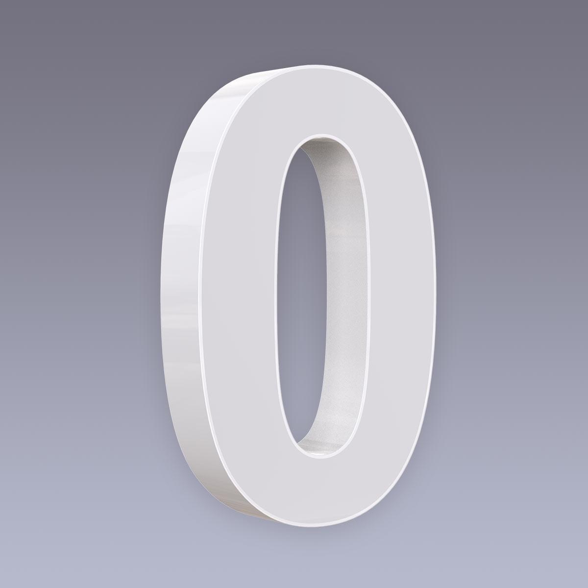 LED Hausnummer - 0 - CCT 12V 2700K/4000K/6500K