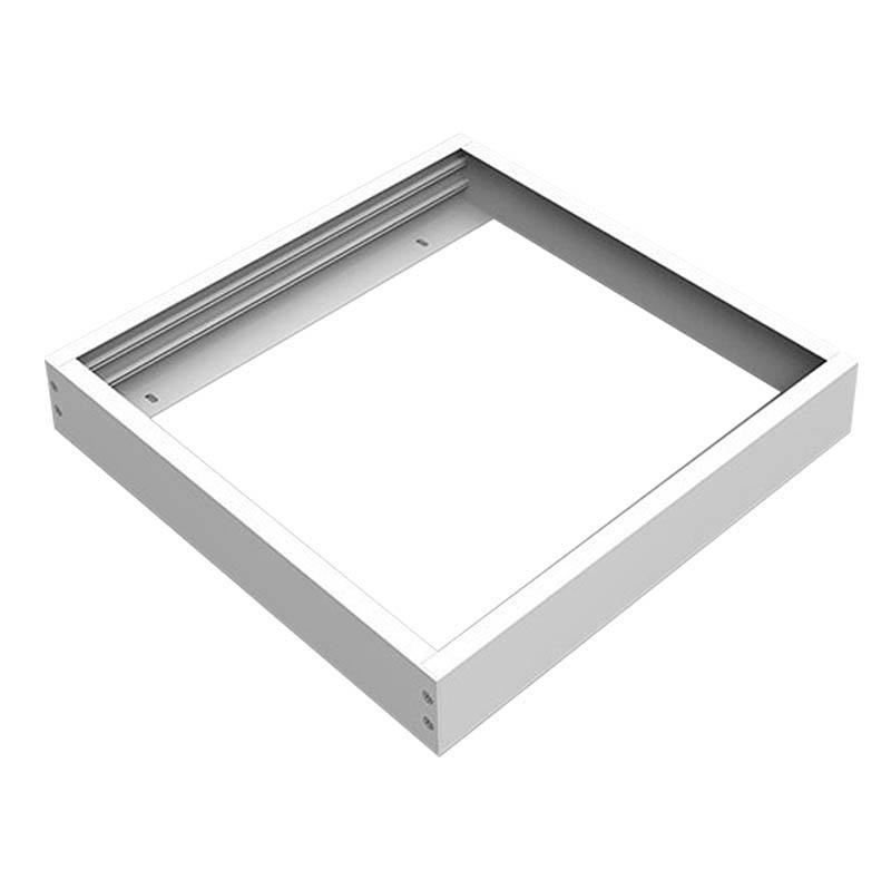 LED Panel Aufbaurahmen Classic 30x30cm weiß Aufputz Montagerahmen