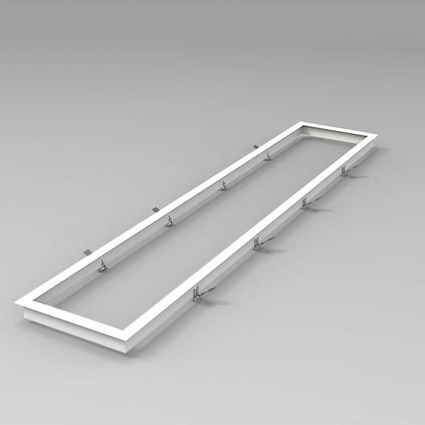 LED Panel Einbaurahmen weiss 120x30cm