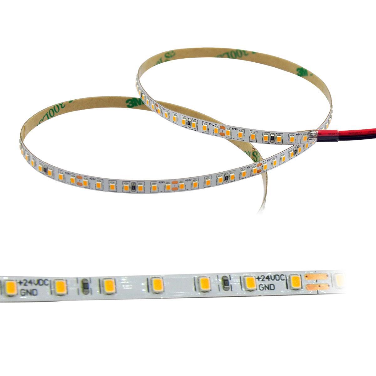 Strip Warmweiß 24V CRI90 LED Streifen 5M 4W/m 140LED/m 3,5mm IP20 3000K