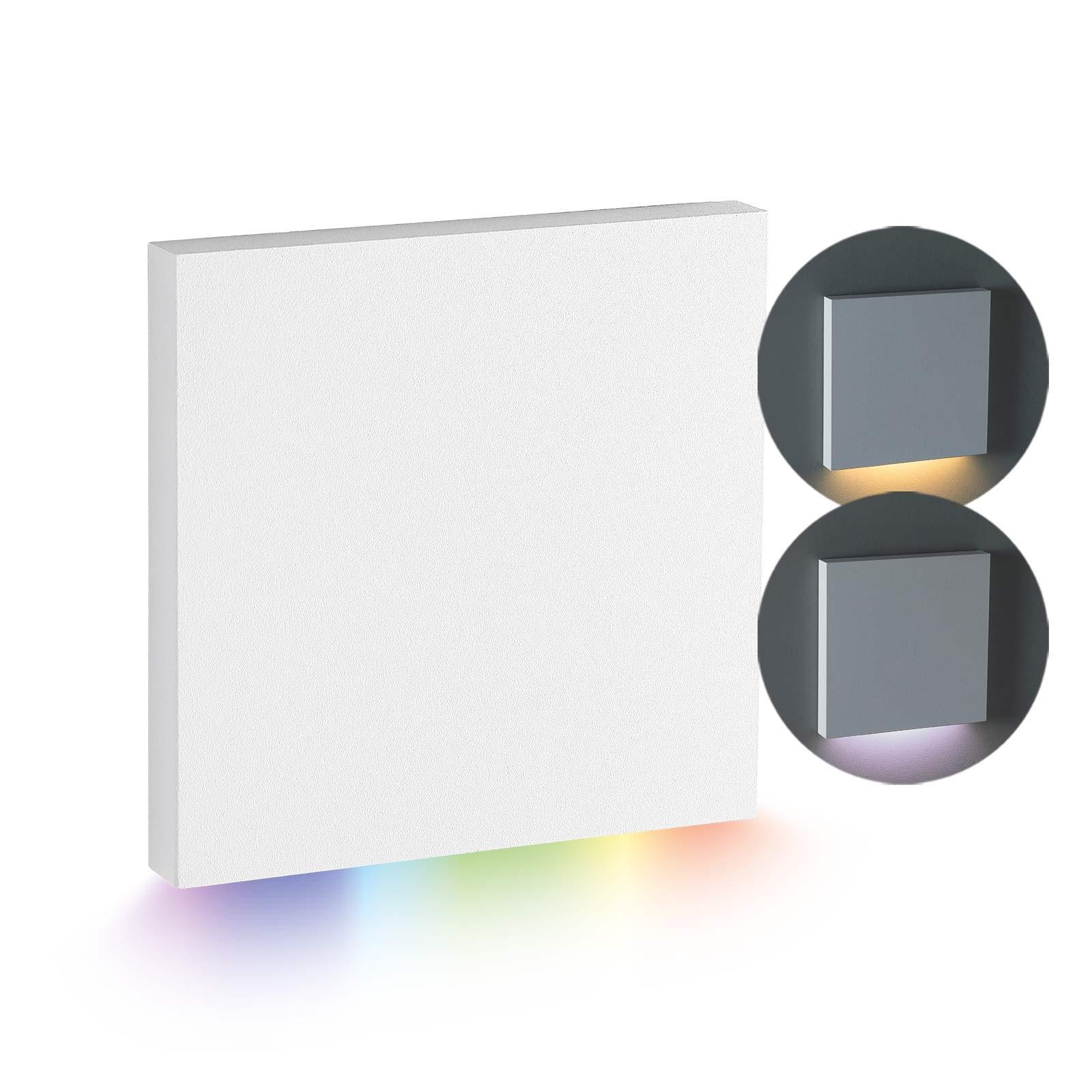 LED Stufenbeleuchtung Oberteil eckig, weiß | Lichtabgabe nach unten