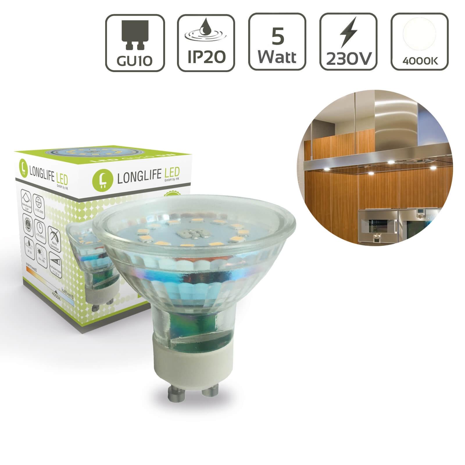 LED Spot GU10 5W 4000K 420lm 110°