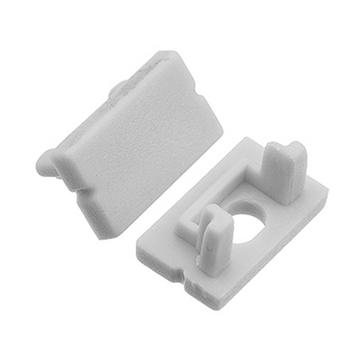 1 Paar Endkappen für Aufbau U-Profil  14 x 7mm (4283)