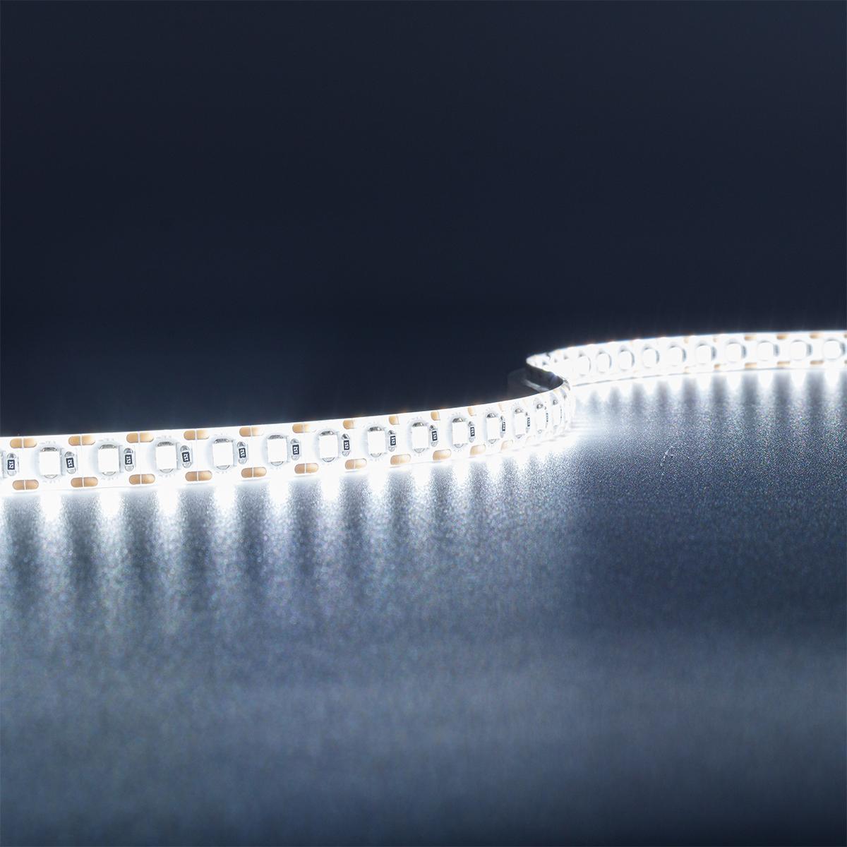 Single Cut Kaltweiß 24V LED Streifen 5M 15W/m 120LED/m 8mm IP65 6000K