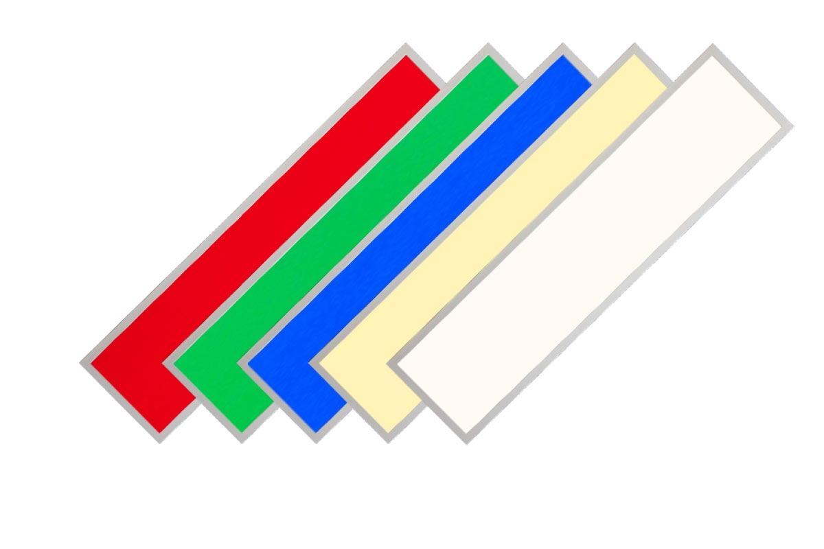RGB+CCT LED Panel Pro 120x30cm 48W 24V Rahmen weiß