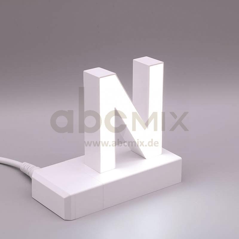 Leuchtbuchstabe EasyClick N 75mm Arial 4000K weiß