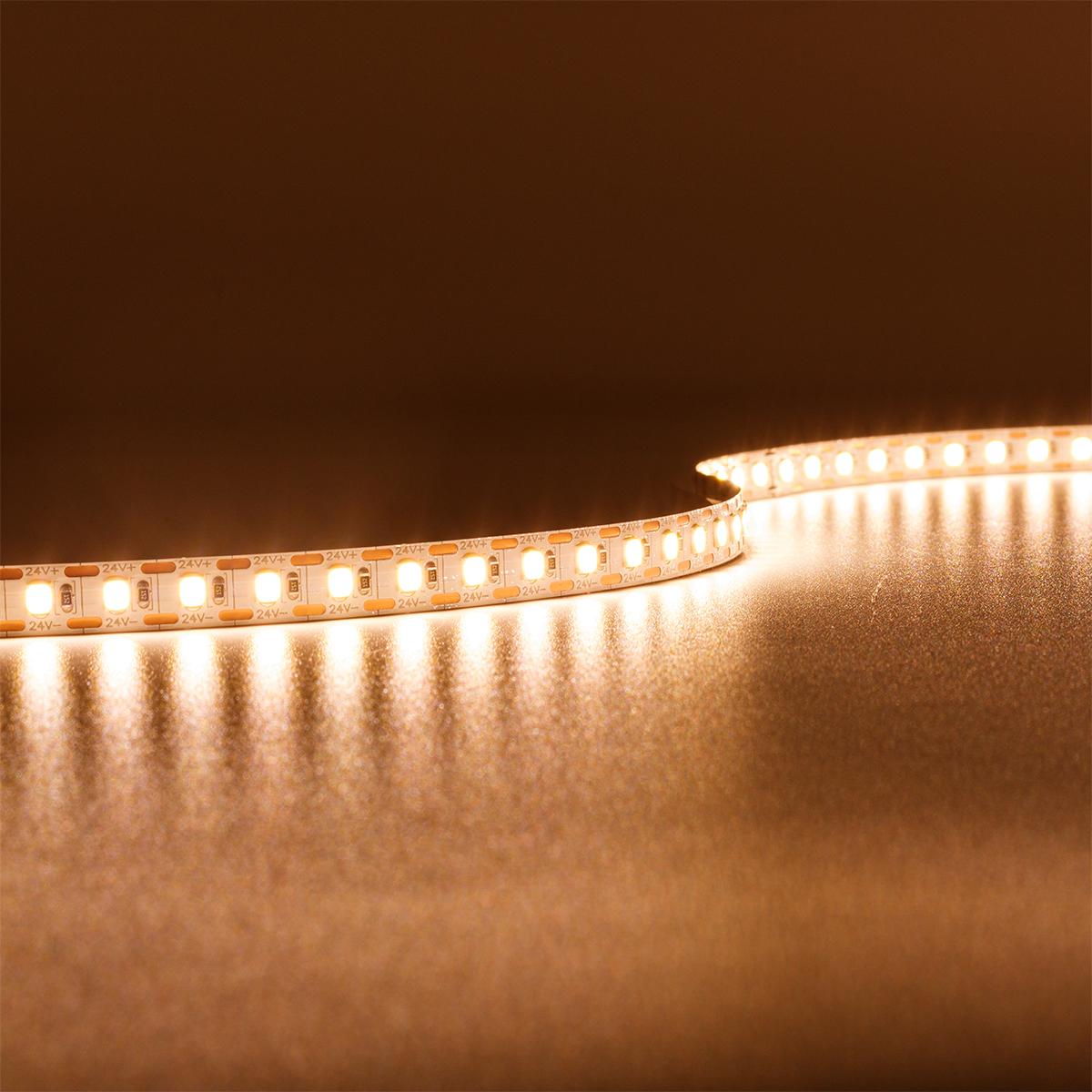 Single Cut Warmweiß 24V LED Streifen 5M 15W/m 120LED/m 8mm IP20 3000K