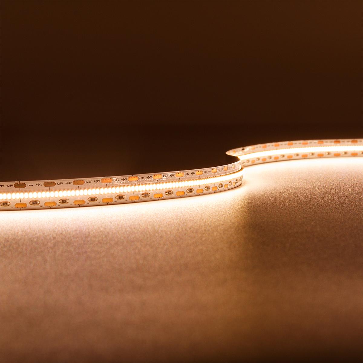 Strip Warmweiß 24V CRI90 LED Streifen 5M 18W/m 700LED/m 10mm IP20 6000K