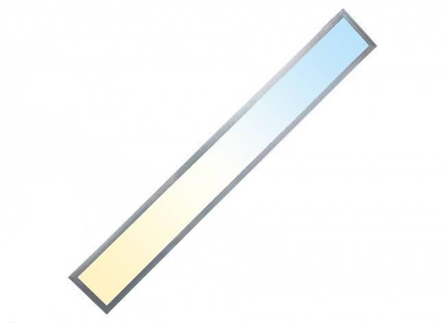 CCT LED Panel 120x15cm 36W 3000K- 6000K silber