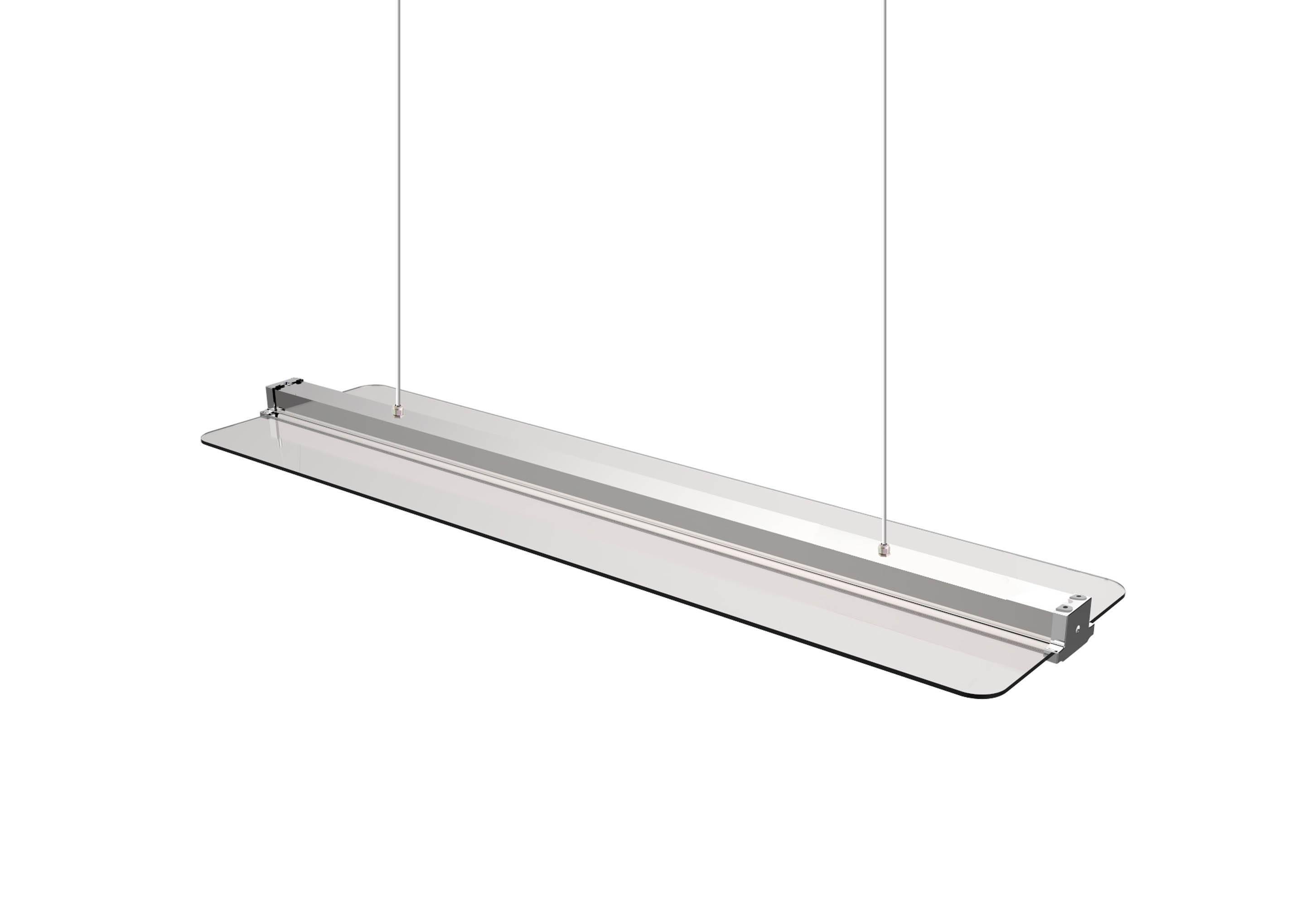LED Deckenleuchte Transparent 30x120cm 40W CCT dimmbar