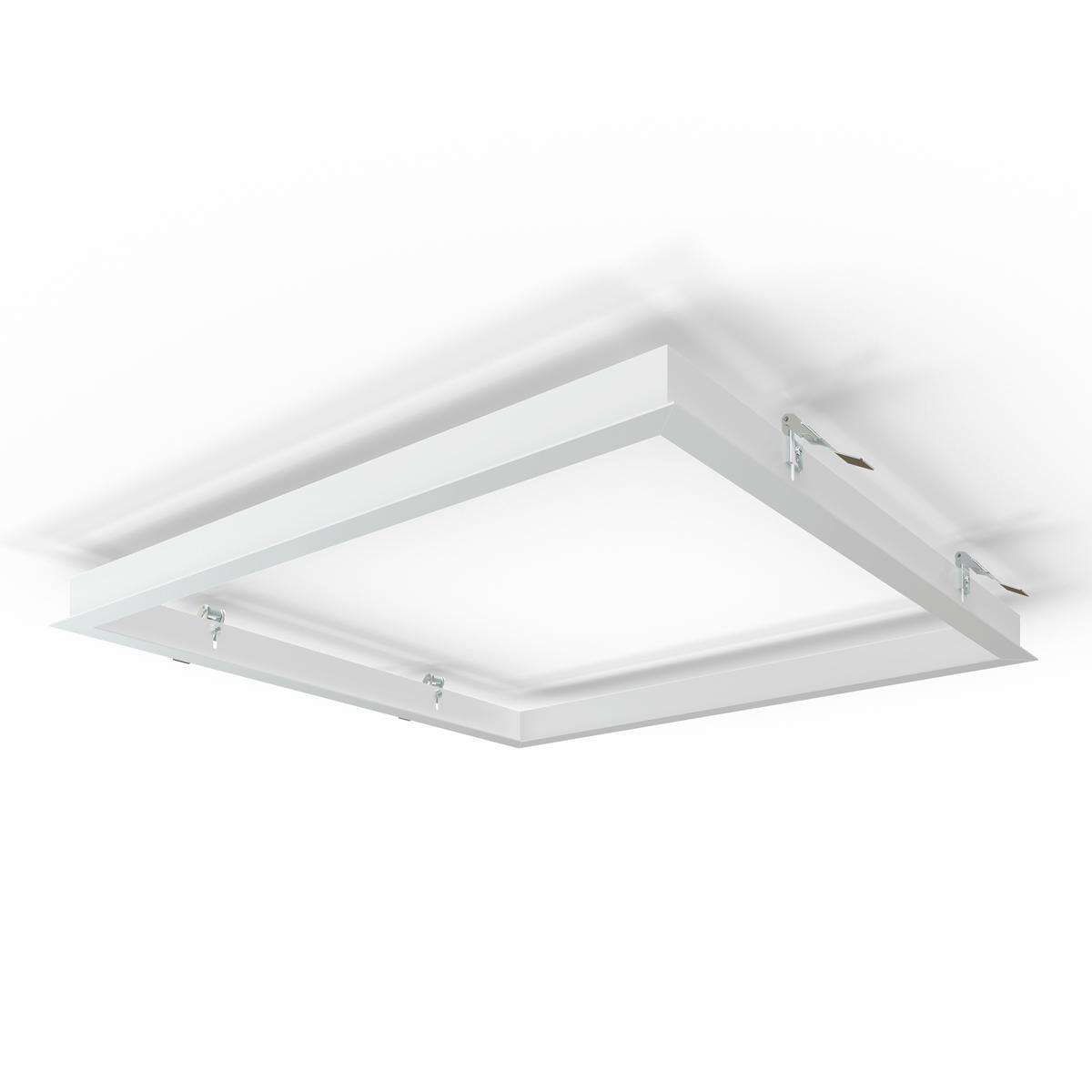 LED Panel Einbaurahmen 62x62cm weiß Deckeneinbau Montagerahmen für Rigipskartondecke