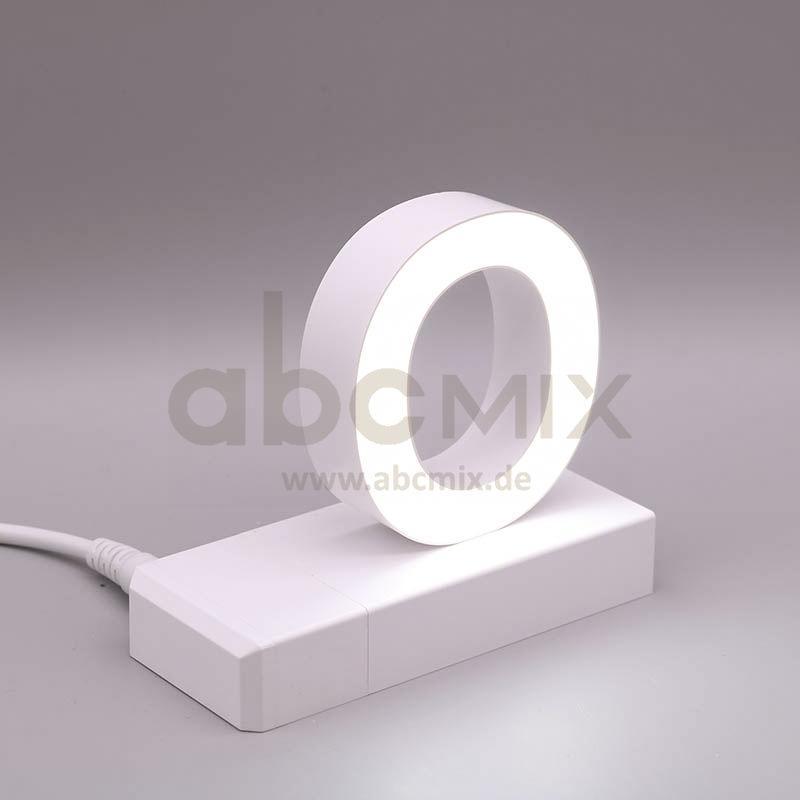 Leuchtbuchstabe EasyClick O 75mm Arial 4000K weiß
