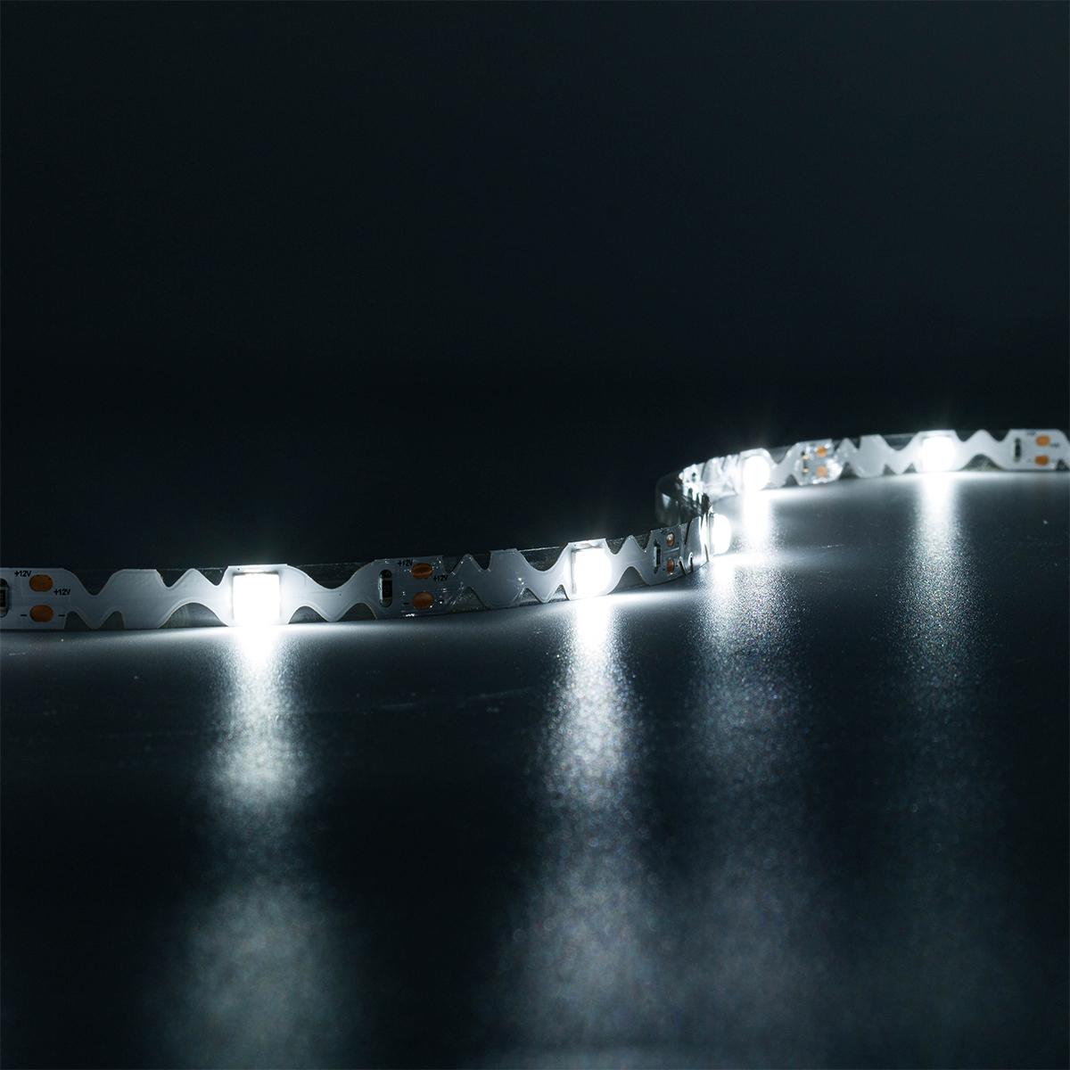 ZickZack Wide Angle Kaltweiß 12V LED Streifen 5M 9W/m 20LED/m 8mm IP20 6000K