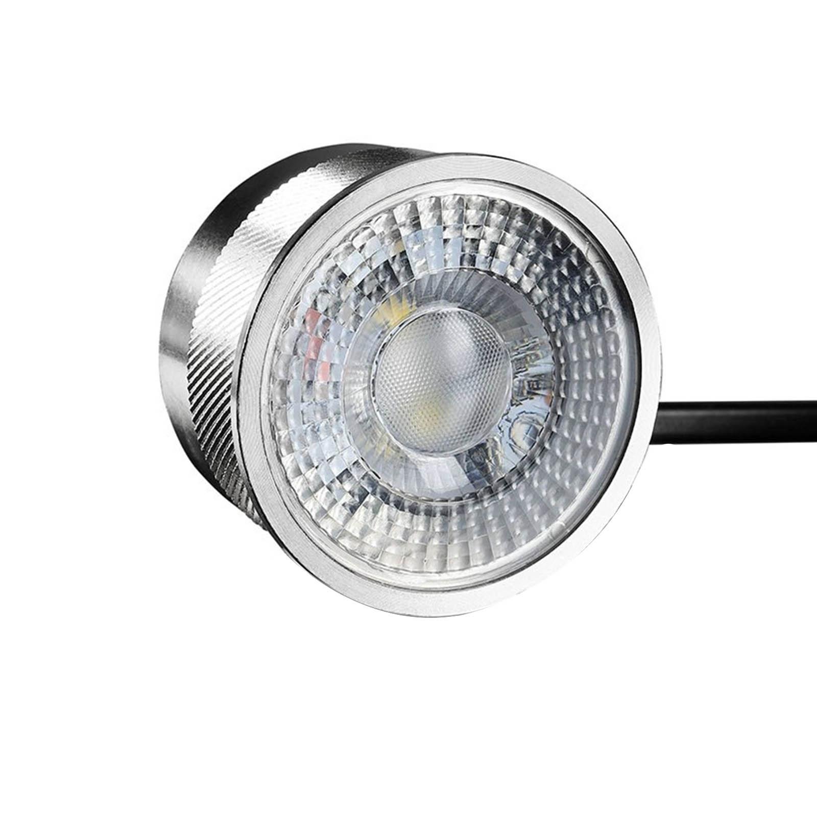 LED Bodeneinbaustrahler FLACH rund Set 3x Gartenstrahler 230V IP67 3W RGB+3000K DIMMBAR 60°