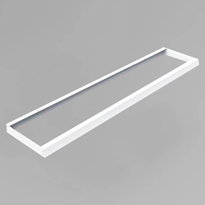LED Panel Aufbaurahmen Classic 150x30cm weiß Aufputz Montagerahmen