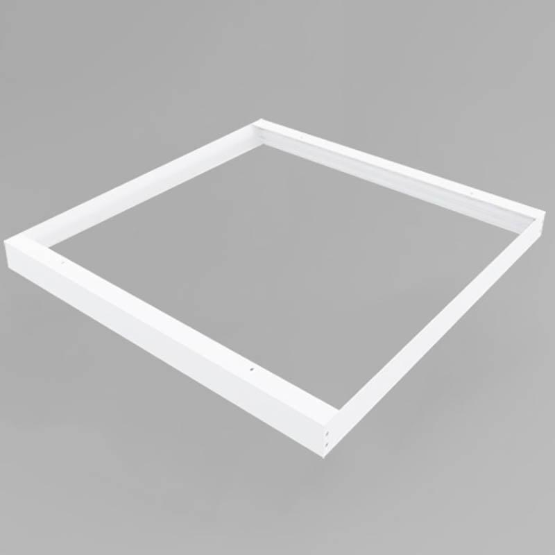 LED Panel Aufbaurahmen Classic 62x62cm weiß Aufputz Montagerahmen
