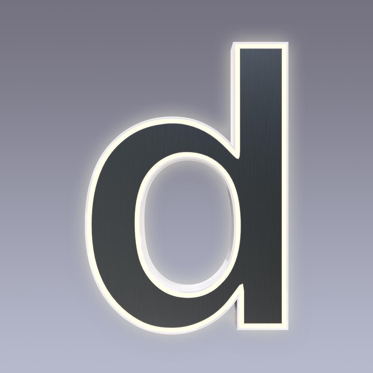Cover für 15cm Hausnummer d Edelstahl anthrazit RAL7016 Arial selbstklebend