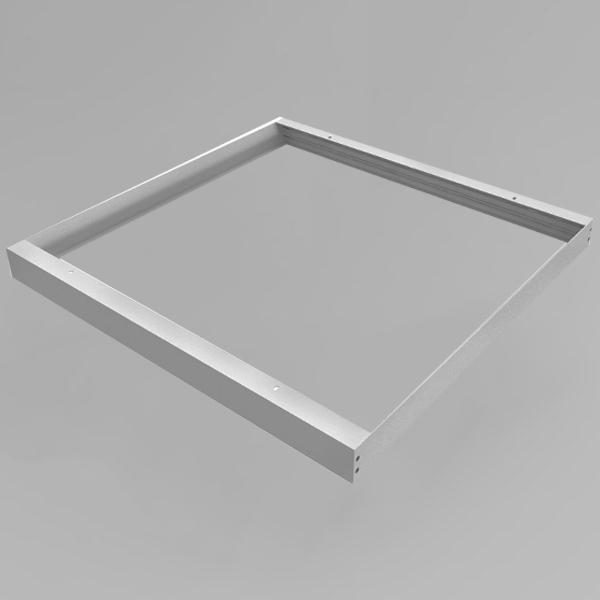 LED Panel Aufbaurahmen Classic 62x62cm silber Aufputz Montagerahmen
