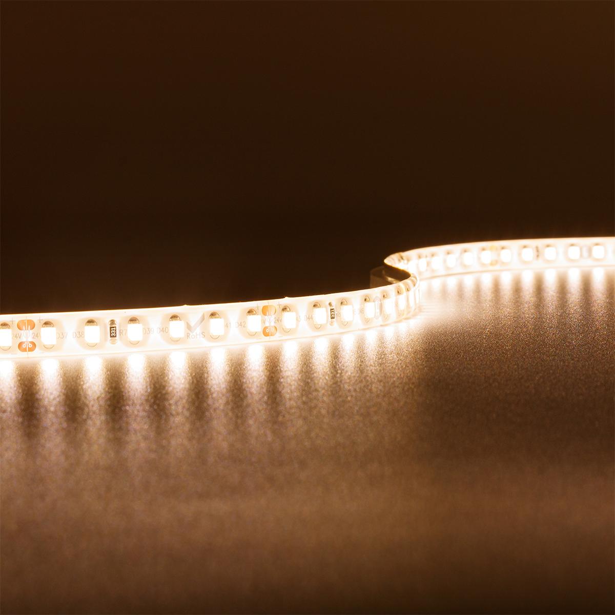 Strip Warmweiß 24V LED Streifen 5M 9,6W/m 120LED/m 8mm IP65 3000K