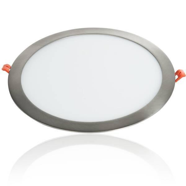LED Panel Einbaustrahler silber 24W Ø300mm 3000K
