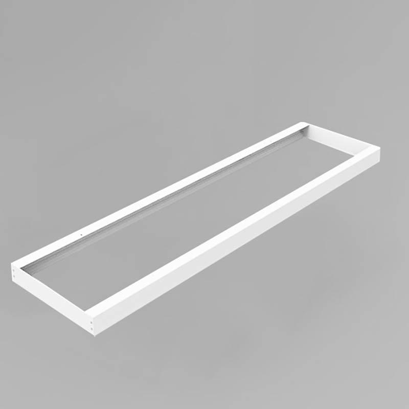 LED Panel Aufbaurahmen Classic 120x30cm weiß Aufputz Montagerahmen