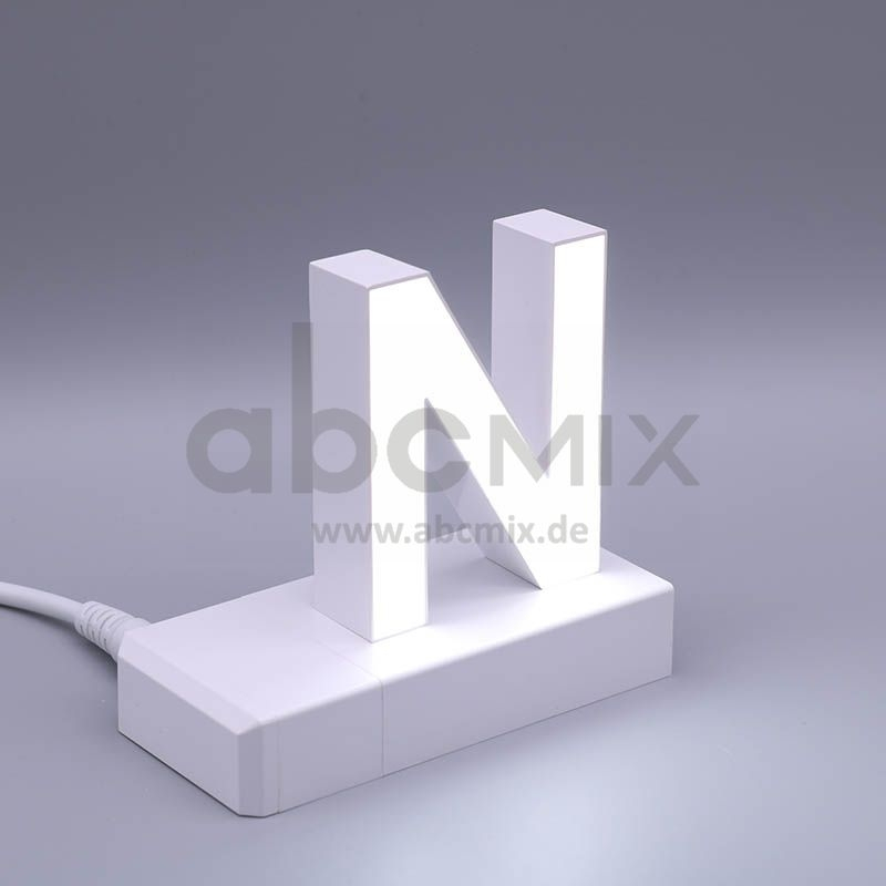 LED Buchstabe Klick N 75mm Arial 6500K weiß