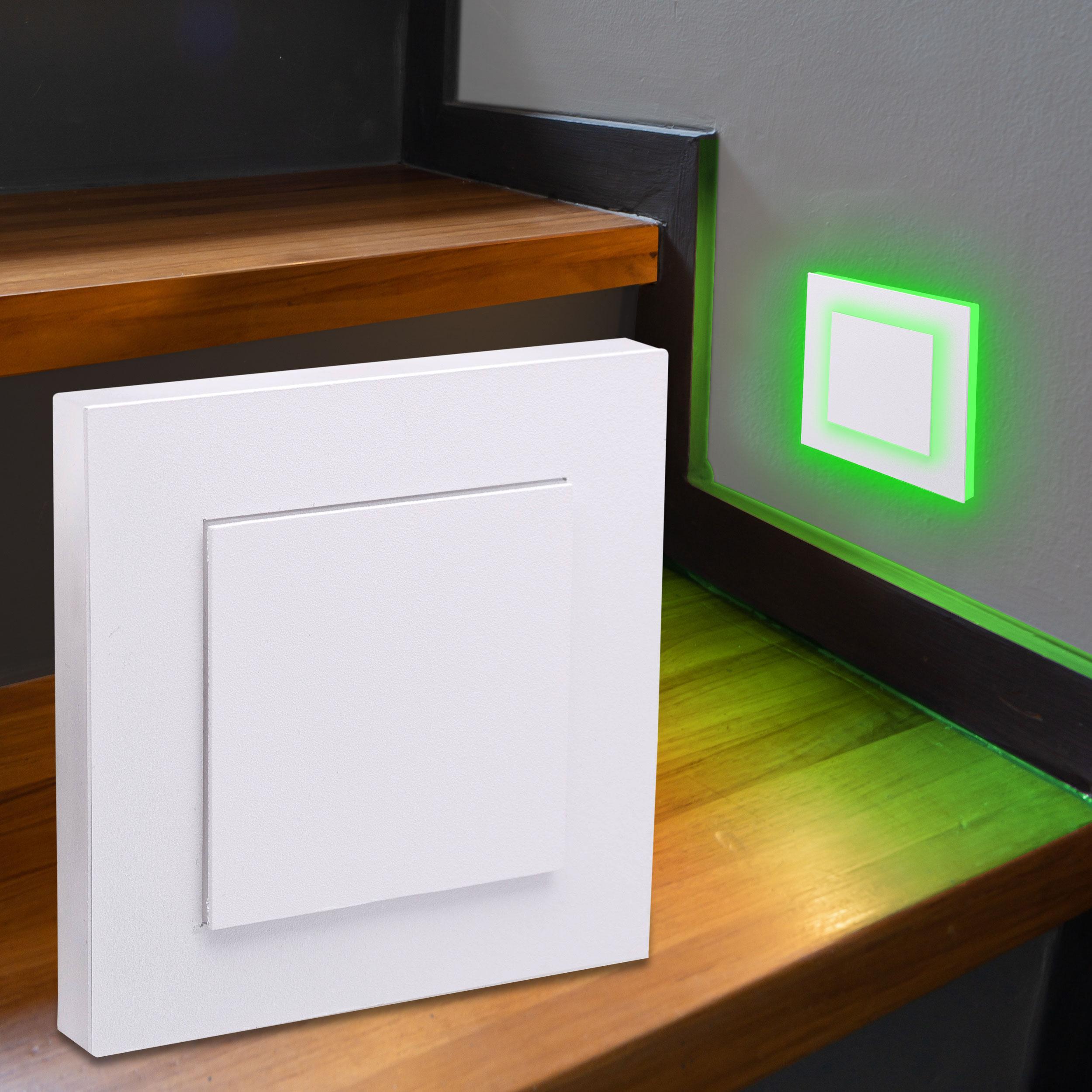 LED Treppenlicht Wandeinbauleuchte Smart Tuya RGB+CCT 230V 5W weiß Lichtaustritt seitlich/doppelt