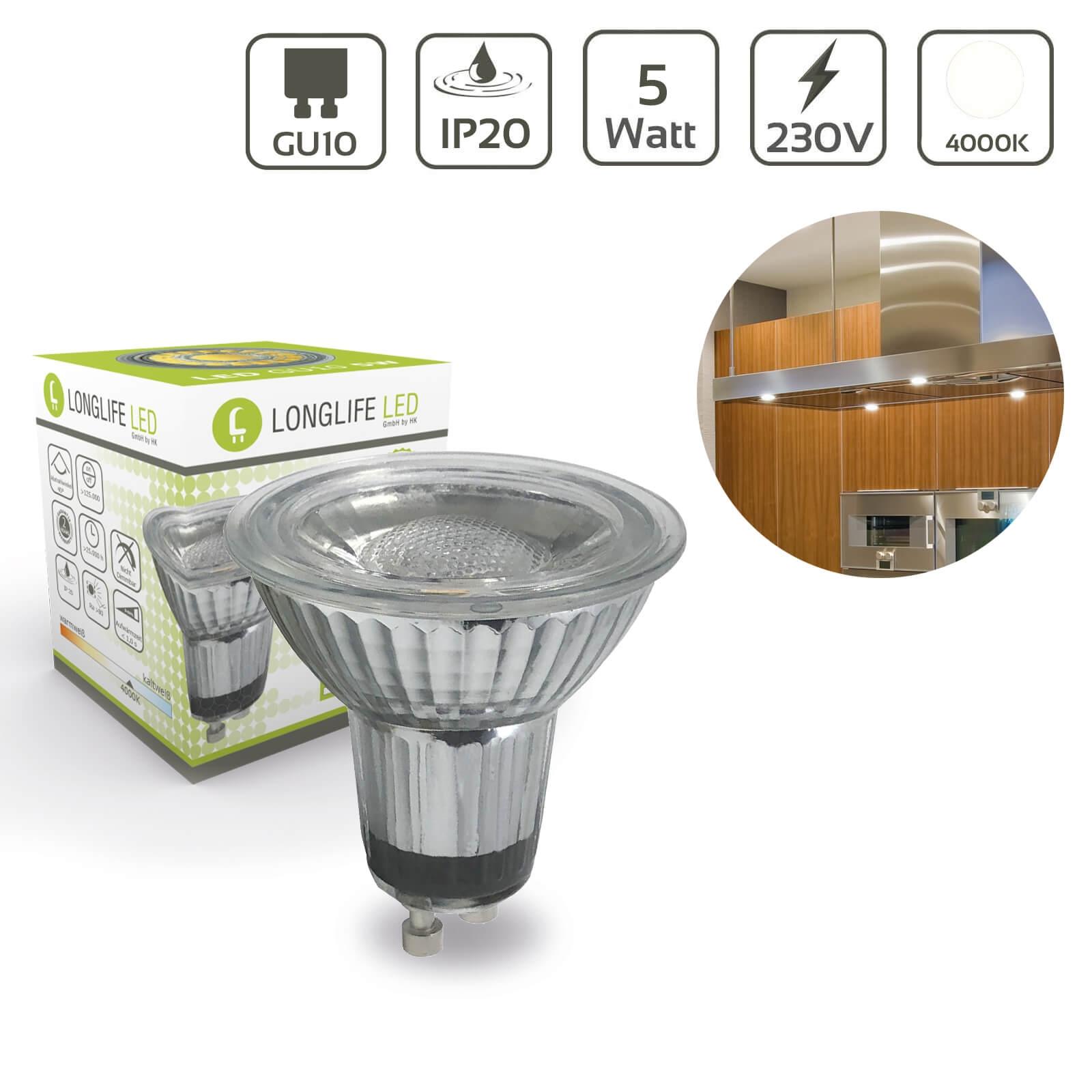 LED Spot GU10 5W 4000K 440lm 40°