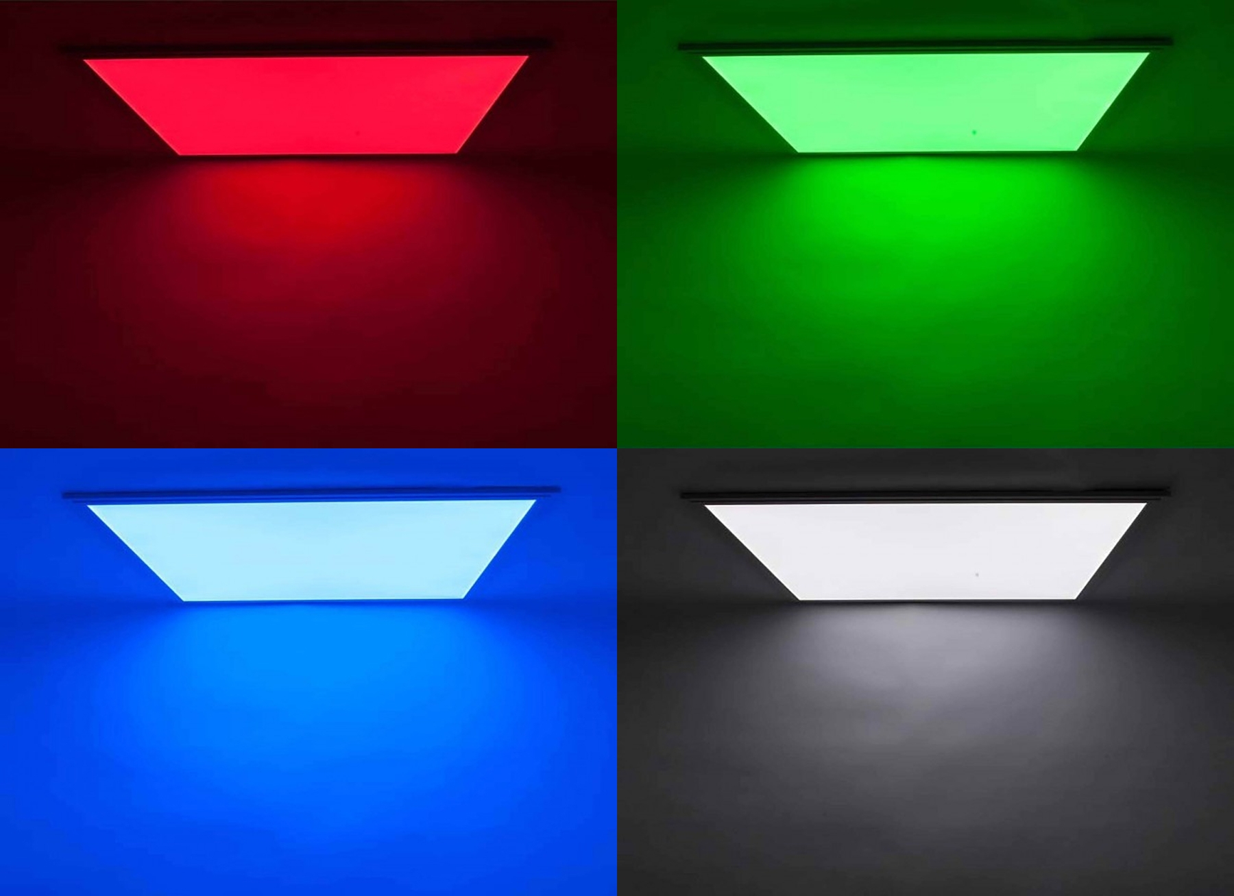 RGB LED Panel Set 3 120x30cm 48W 24V weiss