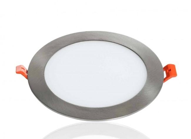 LED Panel Einbaustrahler silber 12W Ø174mm 5500K
