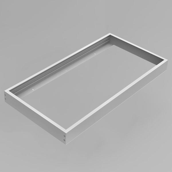 LED Panel Aufbaurahmen Classic 30x60cm silber Aufputz Montagerahmen