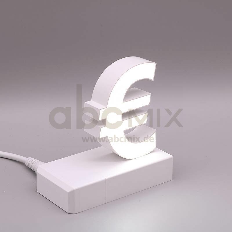Leuchtbuchstabe EasyClick Eurozeichen € 75mm Arial 4000K weiß