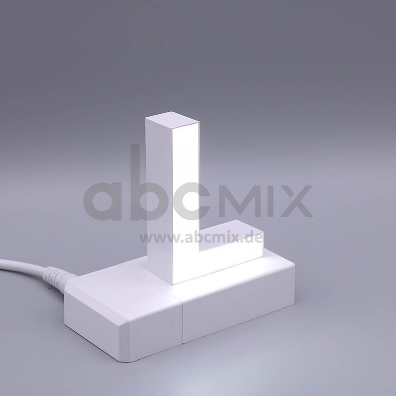 LED Buchstabe Klick L 75mm Arial 6500K weiß