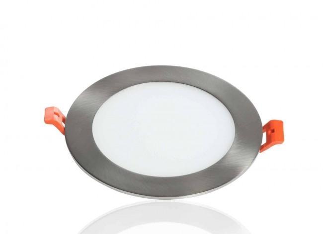 LED Panel Einbaustrahler silber 9W Ø147mm 5500K