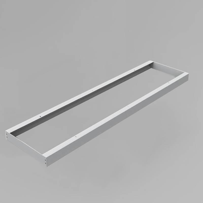 LED Panel Aufbaurahmen Classic 120x30cm silber Aufputz Montagerahmen