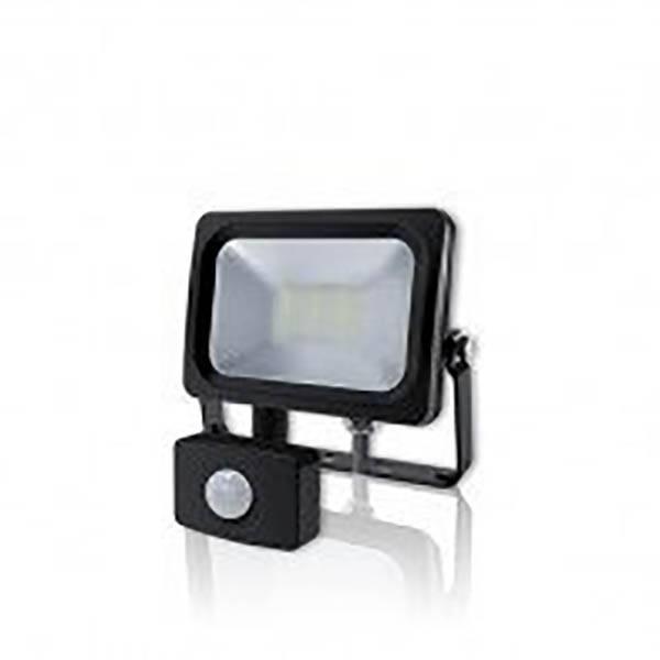 LED Fluter Slim mit Sensor 140° schwarz 10W 4000K