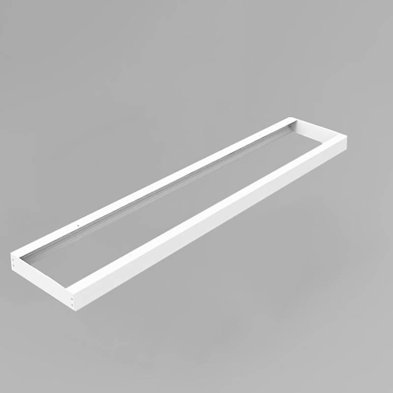 LED Panel Aufbaurahmen Classic 120x15cm weiß Aufputz Montagerahmen