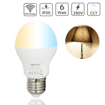 LED Lampe E27 6W DUAL WHITE  2700+6500 Kelvin WiFi ready