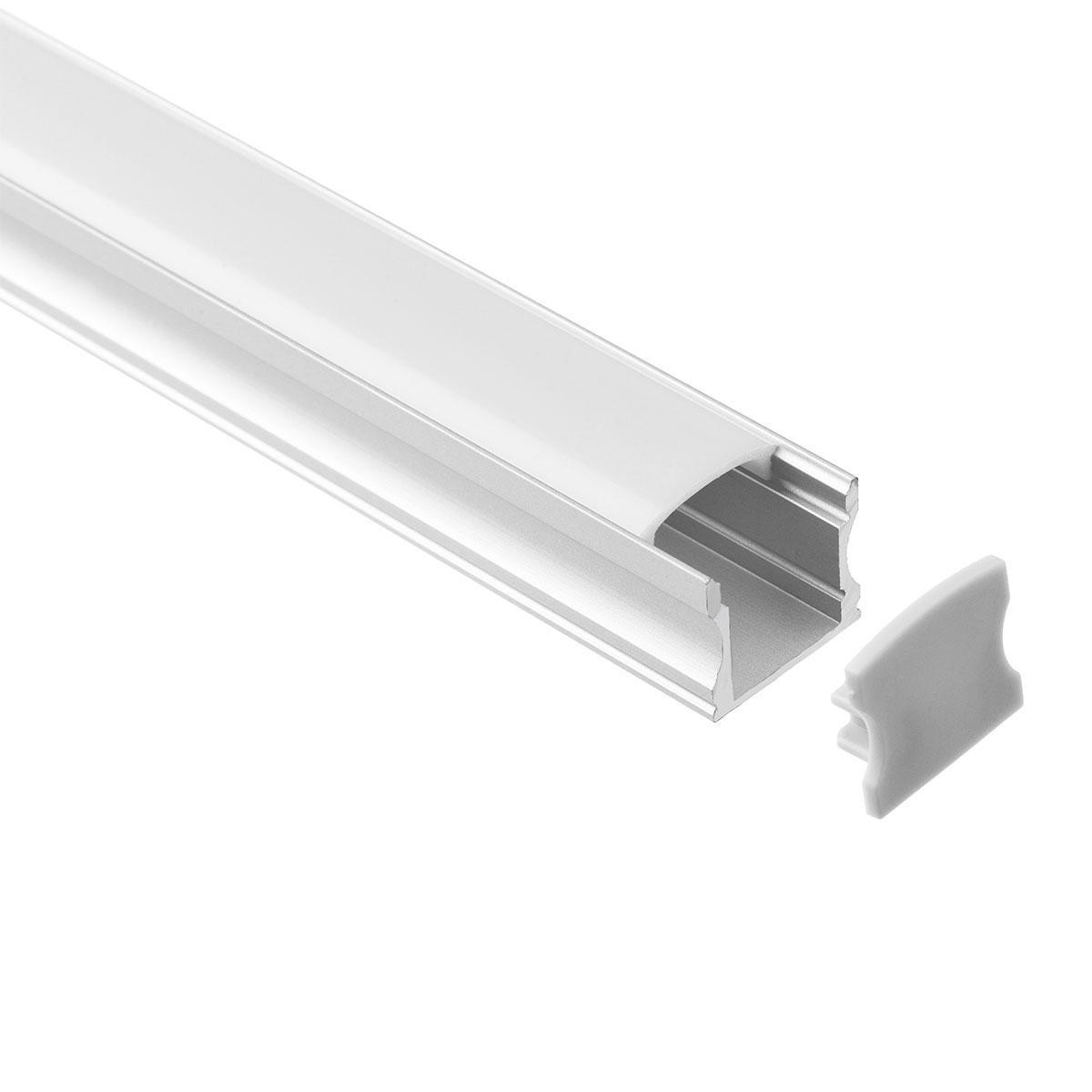 LED Aufbau U-Profil eloxiert 17,3 x 14,5mm opal 200cm