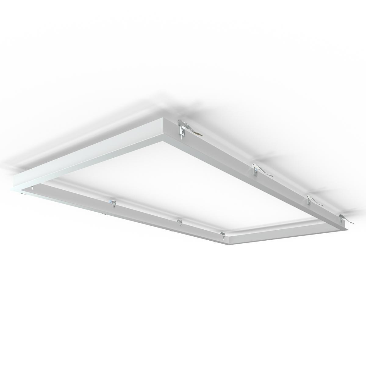 LED Panel Einbaurahmen 120x60cm weiß Deckeneinbau Montagerahmen für Rigipskartondecke